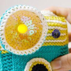 Cute site: http://ohvillo.blogspot.com/ Make an orginal amigurumi camera with Leds. (tutorial in English and Spanish)