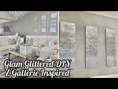 Hello Guys here is the latest update to my living room. I'm really loving this Glam Glitter Wall Art DIY but wat do you guys think? Mirror Wall Art, Diy Wall Art, Glitter Wall Art, Glitter Walls, Glitter Wallpaper, Aztec Wallpaper, Pink Wallpaper, Glam Living Room, Glam Bedroom
