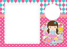 Convite Circo Menina 5 Moana, Alice, Notebook, Clip Art, Frame, Party, Children, Party Invitations Kids, Circus Birthday Invitations
