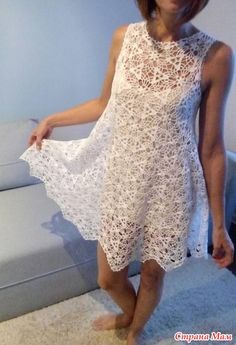 Здравствуйте дорогие вязальщицы  Сегодня хочу поделиться своей последней работой... Попросила девочка связать белое платье, модель подобрали