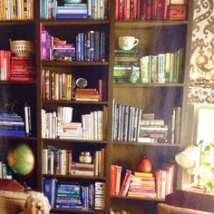Books arranged by color (from current Southern Living mag)