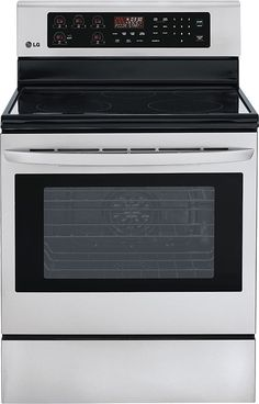 LG - 6.3 Cu. Ft. Self-Cleaning Freestanding Electric Convection Range - Stainless Steel (Silver)