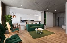 Conçu par Sergey Makhno Architects, cet appartement minimaliste de 110 m2 dans la capitale ukrainienne offre un espace confortable et spacieux à ses habita