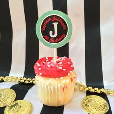 Customized Captian Cupcake Toppers