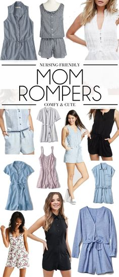 nursing-friendly rompers for new moms - all under $75 and perfect for chasing after kids. rompers for moms - such a great style for mommas