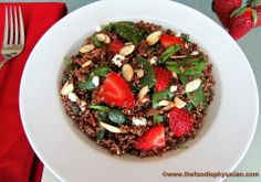 The Foodie Physician: Dining with the Doc: Quinoa Salad with Spinach, Strawberries and Goat Cheese