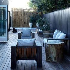 Tree stump table like I want to use by pool. Tree stump table like I want to use by pool. Outdoor Rooms, Outdoor Gardens, Outdoor Living, Outdoor Furniture Sets, Outdoor Decor, Gazebo, Pergola, Deck Seating, Wooden Patios
