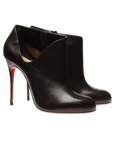 Chrisitan Louboutin Leather Cutout Ankle Boots