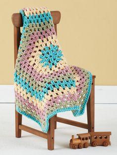 Granny Hexagon Baby Blankie ~ free pattern