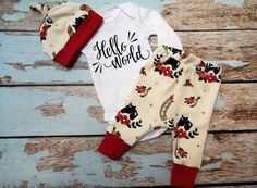 Check out this item in my Etsy shop https://www.etsy.com/listing/476959394/hello-world-newborn-set-organic-coming