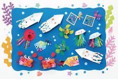 海の生き物の壁飾り 季節の製作 のページです。「PriPricafe(プリプリカフェ)」は売れ行きNO.1の月刊保育雑誌『PriPriプリプリ』(世界文化社 刊)が運営する保育WEBメディアです。「季節のお話」「ホッと読み物」「あそび」「保育を深める」など、役立つ情報や気持ちがアガる☆トピックスで保育者のかたをサポートします。