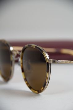 Antique Gold Dtb Mp 2 Sunglasses By Oliver Peoples | Nuji