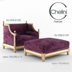 кресло и пуф Chelini