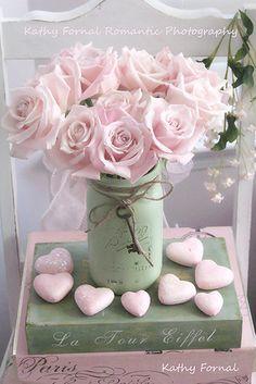 Rosa Rosen Hinweis romantische Rosen Notecards von KathyFornal