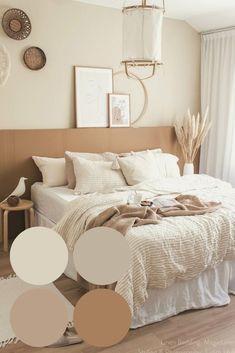 Brown Room Decor, Neutral Bedroom Decor, Room Design Bedroom, Room Ideas Bedroom, Bedroom Themes, Home Decor Bedroom, Warm Bedroom Colors, Bedrooms, Beige Room