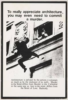 "upontheoceanfloor: Bernard Tschumi, ""Advertisement for Architecture"" (1978)"