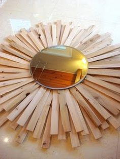 DIY sunburst mirror!