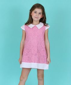 Loving this Pink Floral Embroidered Cap-Sleeve Dress - Toddler & Girls on #zulily! #zulilyfinds