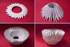 Cisne de papel plegado, origami 3D, reciclado : VCTRY's BLOG