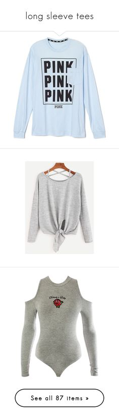 """long sleeve tees"" by fight-me-helen ❤ liked on Polyvore featuring tops, bodysuits, adidas, blusas, body, green, adidas originals, t-shirts, shirts and blue"