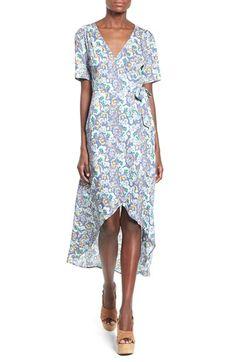 ASTR Floral Print Wrap Front Maxi Dress