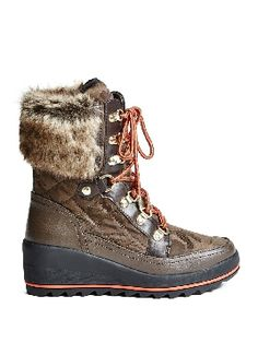 Take on the snow courtesy of the Guess Leland Lace-Up Wedge Boots, on sale here: rstyle.me/~9s71t