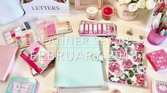 how to make a pocket/envelope 8:20 ... My Kikki K Planner Set Up and Customization February 2018
