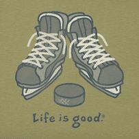 Men's Hockey Skates Long Sleeve Crusher Tee