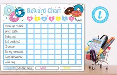 Editable Donut Reward Chart, Donut instant download party invitationr, You print birthday banner, Donut DIY party Kids Sleep, Child Sleep, Goal Charts, Baby Sign Language, Chore List, Newborn Care, Eat Breakfast, Health Advice, How To Make Bed