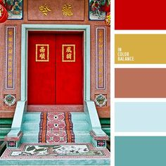 The color of happiness, luck and protection for the front door.