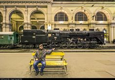 Net Photo: Hungarian State Railways (MÁV) 424 at Budapest, Hungary by Balázs Bálint Steam Locomotive, Commercial Vehicle, Dieselpunk, Hungary, Budapest, Arcade, Steampunk, Motorcycles, Cars