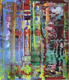 Gerhard Richter, Abstraktes Bild (Abstract Painting), 1992. Oil on canvas. 71cm H x 61cm W. [782-2]