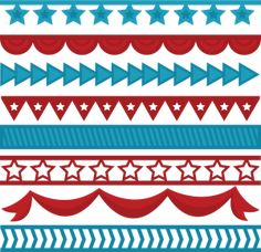 4th of july border art