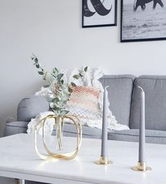 Eucalyptus branches are the perfect way to add green settle tones to your interior. Add just a few branches and your One flower vase is ready to impress 🌿 / Photo by Flower Vases, Flowers, Beautiful Gift Boxes, Delicate, Interior, Green, Instagram, Flower Pots, Interieur