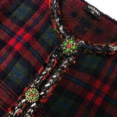 Rare Chanel 13 A Rouge Noir Tartan Cashmere Blazer Veste Cardigan Taille FR36 US2 4 | eBay Tartan, Chanel, Blazer Jacket, Friendship Bracelets, Tweed, Cashmere, Ebay, Black, Jacket