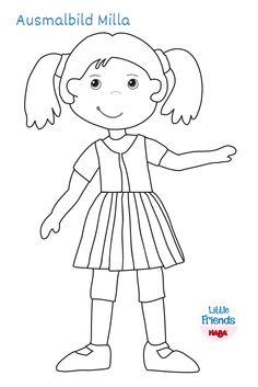 Little Friends - Ausmalbild Milla