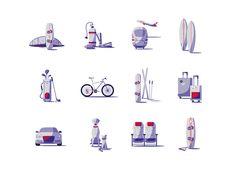 다음 @Behance 프로젝트 확인: \u201cAirberlin - Illustration Set I\u201d https://www.behance.net/gallery/48550327/Airberlin-Illustration-Set-I