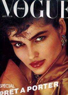 Eva Voorhees, photo by Albert Watson, Vogue Paris, August Vogue Magazine Covers, Fashion Magazine Cover, Vogue Uk, Vogue Paris, Fashion Photo, Fashion Models, Models Style, Vintage Vogue Covers, Cover Model