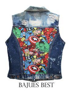 bleached avengers vest