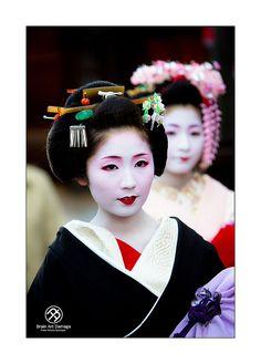 Geisha Sayaka san by Malicky Brain Art Damage, via Flickr