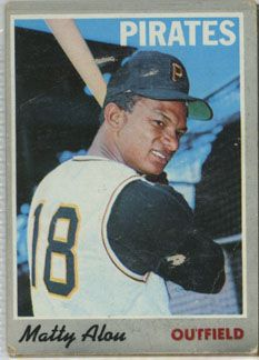 matty alou baseball card | 1970 Topps | Matty Alou | Pittsburgh Pirates | Baseballisms.com