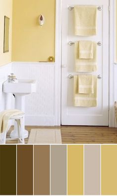 Guest Bathroom Inspiration Board Design Plan Yellow Bathrooms - Yellow towels for small bathroom ideas