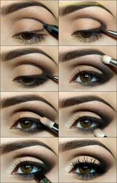 """I love this smokey eye look and have to recreate it!  I'll be using our darkest brow palette, our soft black eyeliner pencil in """"Perfect"""", Addiction eye palette 1 and our false lash effect mascara.   Click through for more details!"""
