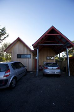 Entrance carport. Cygnet Residence. Design & Build. (New House) 2011.