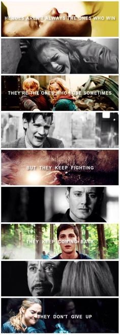 Heroes. SPN, The Hunger Games, Harry Potter, Doctor Who, Teen Wolf...