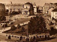 fot. 1954r., źr. omni-bus.eu Paris Skyline, City, Travel, Self, Warsaw, Viajes, Cities, Destinations, Traveling