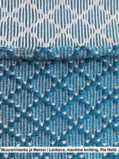yarns: Aito Muurarinlanka + Merssi / Lankava Oy, machine knitting, Pia Heilä 1/2016