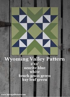 Painted Wood Barn Quilt Wyoming Valley by TheBarnQuiltStore, $65.00