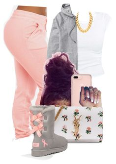 Untitled by ❤ liked on featuring Athleta, Yves Saint Laurent and UGG Australia Lazy Outfits, Cute Swag Outfits, Cute Outfits For School, Teen Fashion Outfits, Teenager Outfits, Dope Outfits, Look Fashion, Outfits For Teens, Trendy Outfits