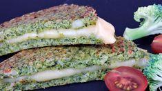Sandwich de queso en pan de brócoli